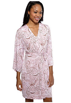 Jones New York Paisley Short Wrap Robe
