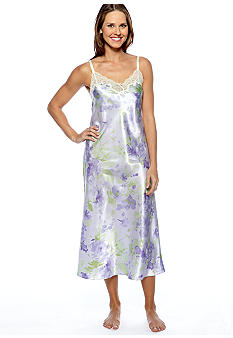Jones New York Floral Print Long Gown