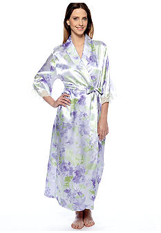 Jones New York Floral Print Long Robe