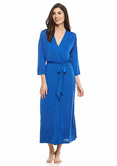 Jones New York Long Silky Knit Robe