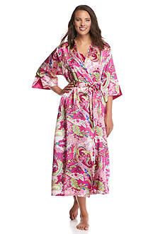 Jones New York Spring Symphony Satin Print Robe