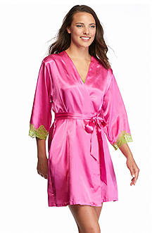 Jones New York Solid Colorblock Wrap Robe