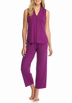 Jones New York Violet Jersey Tank Capris Pajama Set
