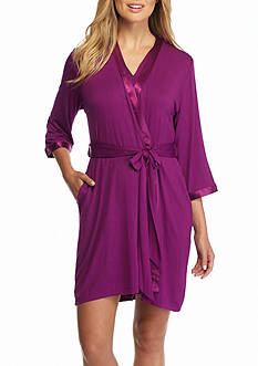 Jones New York Violet Jersey Wrap Robe