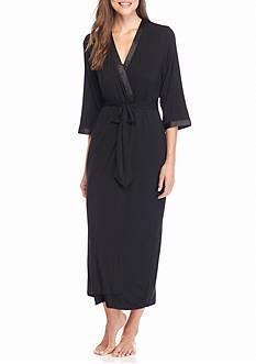 Jones New York Black Jersey Robe