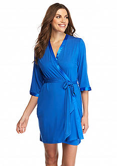 Jones New York Solid Jersey Wrap Robe