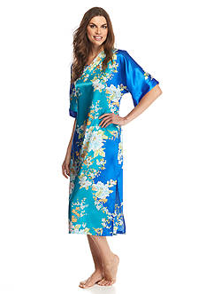 Jones New York Asian Garden Satin Caftan