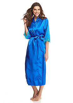 Jones New York Cobalt Lace Temptation Wrap Robe
