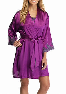 Jones New York Solid Lace Trim Robe