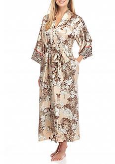 Jones New York Garden Print Satin Robe