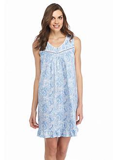 Aria Sleeveless Short Paisley Gown