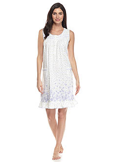 Aria Sleeveless Border Nightgown
