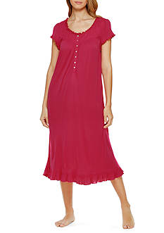 Eileen West Short Sleeve Modal Waltz Gown