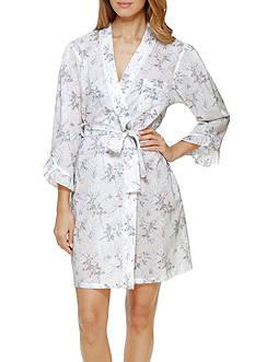 Eileen West White Rose Short Robe