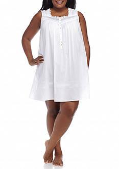 Eileen West Plus Size Sleeveless Short Gown