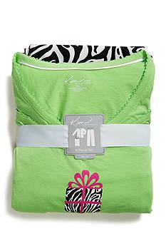 Kim Rogers® Plus Size Pullover Printed Pajama Set
