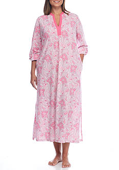 Kim Rogers Plus Size Vanessa Paisley Knit Caftan