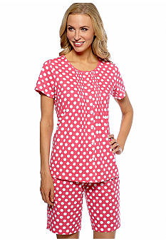 Kim Rogers Pink Polka Dot Shorty Pajama Set