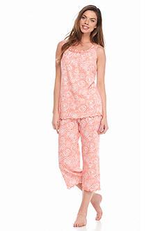 Kim Rogers 2-Piece Capri Swirl Pajama Set