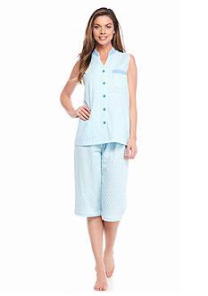 Kim Rogers Sleeveless Modern Foulard Pajama Set