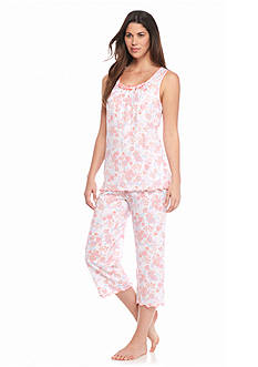 Kim Rogers 2-Piece Capris Garden Pajama Set