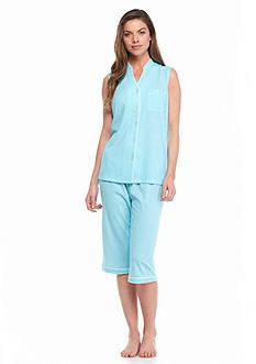 Kim Rogers Sleeveless Modern Dot Pajama Set