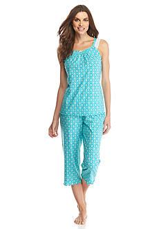 Kim Rogers 2-Piece Gate Geo Tank Capri Pajama Set