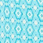 Pajamas for Women: Turquoise Geo Kim Rogers 2-Piece Gate Geo Tank Capri Pajama Set