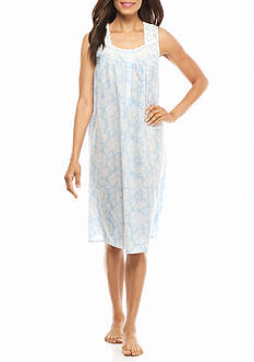 Kim Rogers Simple Paisley Sleeveless Gown
