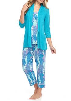 Kim Rogers 3-Piece Patchwork Breeze Pajama Set