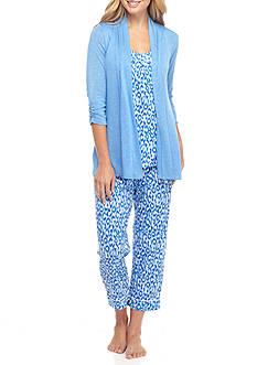 Kim Rogers 3-Piece Cat Scratch Pajama Set