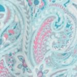 Women: Pajama Sets Sale: Aqua Paisley Kim Rogers 2-Piece Long Sleeve Notch Vanessa Paisley Pajama Set