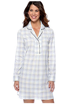 Nautica Cove Harbor Plaid Nightshirt