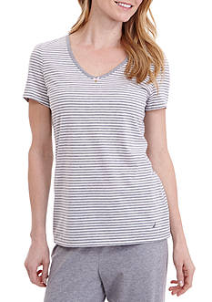 Nautica Anchor Knit Stripe Tee