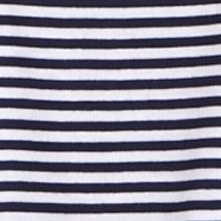 Designer Pajamas for Women: Martin Navy Nautica Anchor Knit Stripe Tee