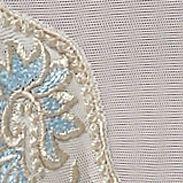 Women's Bikini Underwear: Nude/Blue Lunaire Sevilla Bikini - 14032