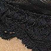 Plus Size Lingerie: Hard To Find Sizes: Black Lunaire Barbados Demi Bra - 15211