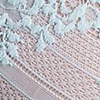 Women: Designer Bras Sale: Aqua/Coral Lunaire Cabo Lace Demi - 26911