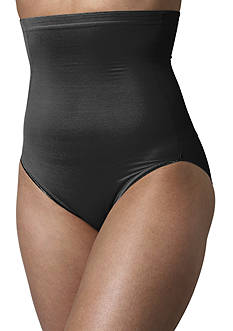 Naomi & Nicole Plus Size Naomi & Nicole Hi-Waist Brief with Wonderful Edge - 7775