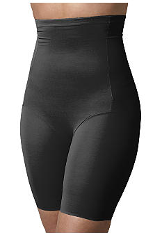 Naomi & Nicole Plus Size Naomi & Nicole Hi-Waist Thigh Slimmer with Wonderful Edge - 7779