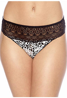Naomi & Nicole Wonderful Edge Microfiber with Lace Hipster - A163P