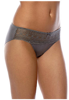 Naomi & Nicole Wonderful Edge Microfiber Lace Trim Hipster - A163