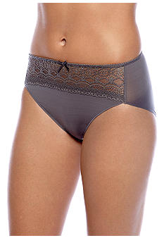Naomi & Nicole Wonderful Edge Microfiber with Lace Hi-Cut - A164