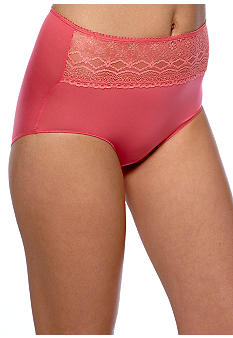 Naomi & Nicole Wonderful Edge® Microfiber with Lace Brief - A165