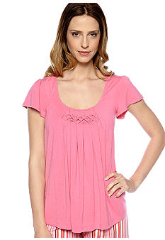 HUE Sleep Tee With Diamond Pleating