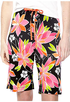 HUE Rio Floral Sleep Bermuda Short