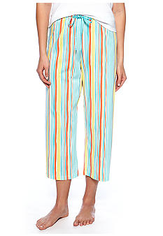 HUE Striped Capri Pajama Pant