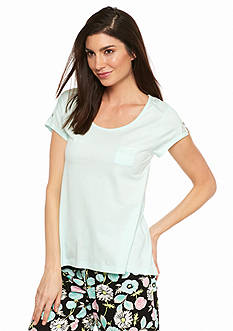 HUE Lace Scoop Neck Tee