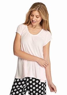 HUE Ruched Neck Femmy Tee