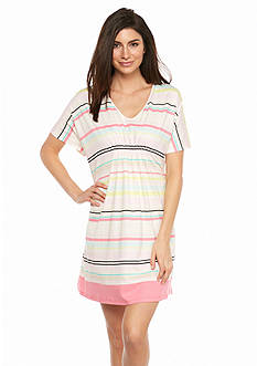 HUE Bouquet Stripe Short Caftan